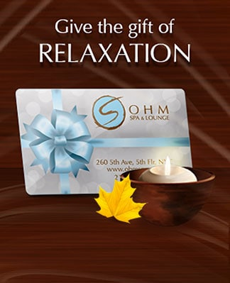 Custom Design & Send An Ohm Spa Gift Card