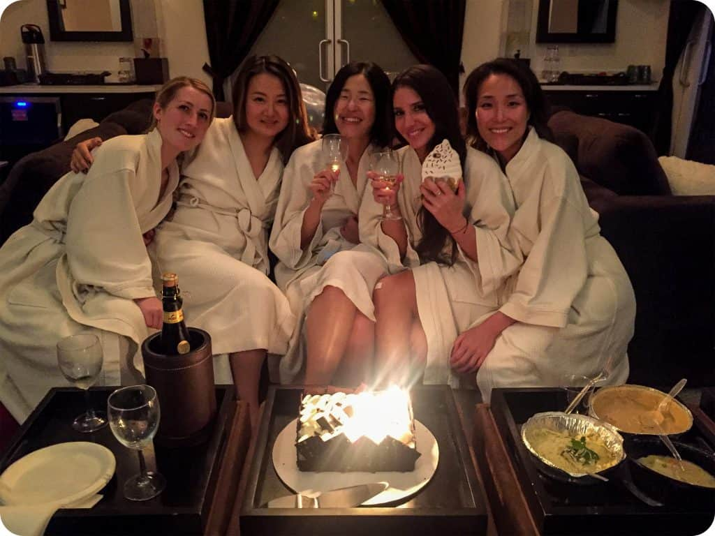 Cathy and her team looking relaxed and refreshed after their recent spa party at Ohm Spa & Lounge!